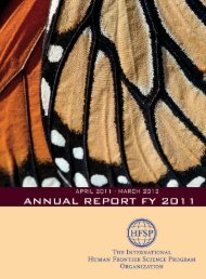 Annual Report Fiscal Year 2011/2012 - Human Frontier Science ...