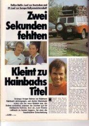 Hainbachs Hatrrick. Erst ats Jochi ftleinti 8:l'J: 331ä3 ... - Rallye Frieg