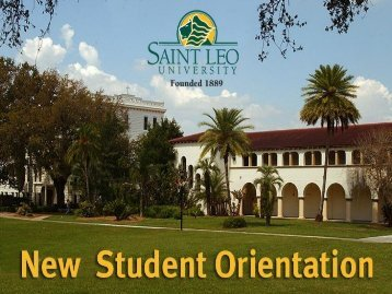 Continuing Education New Student Orientation - Saint Leo University