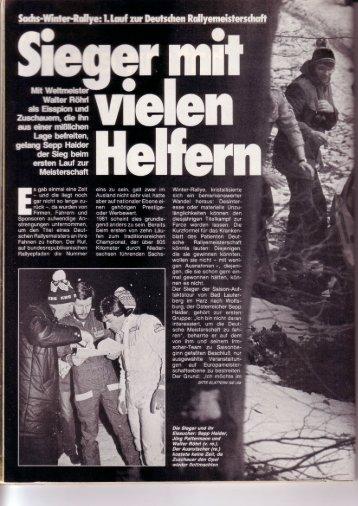 Rallye Racing, April 1981 - Rallye Frieg