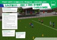 lacrosse - One 2 One Shoot Challenge - School Games