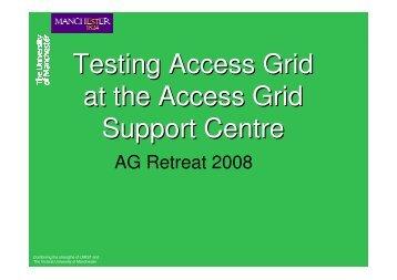 slides - Access Grid