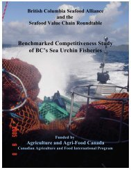 Benchmark Final - Pacific Urchin Harvesters Association
