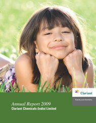 Annual Report 2009 - Clariant