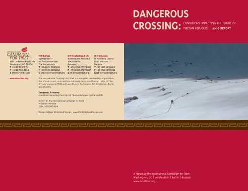 dangerous crossing - International Campaign for Tibet