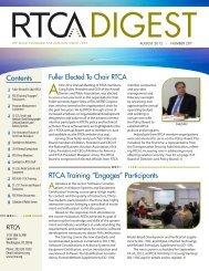 """Contents RTCA Training """"Engages"""" Participants"""
