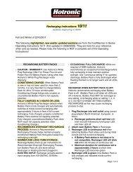 Recharging Instructions - Hotronic