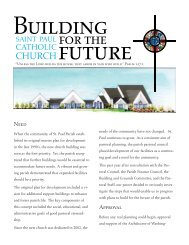 Building for the Future - St. Paul's Catholic Church