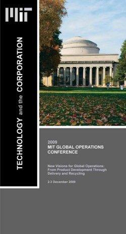 Conference brochure - MIT SDM