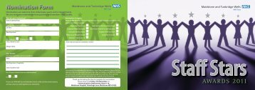 attached nomination form - Maidstone and Tunbridge Wells NHS Trust