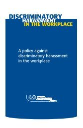 A policy against discriminatory harassment in the workplace - CDPDJ