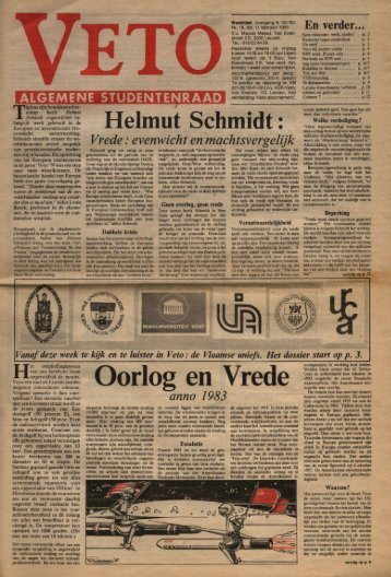 Oorlog en Vrede - archief van Veto