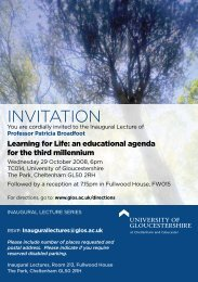 INVITATION - University of Gloucestershire
