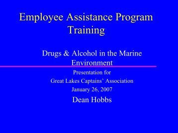 Drug and Alcohol Awareness Training - Great Lakes Association of ...