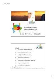 Angebotserstellung g g Pauschale/Package 3. Mai 2011   9.oo – 12 ...