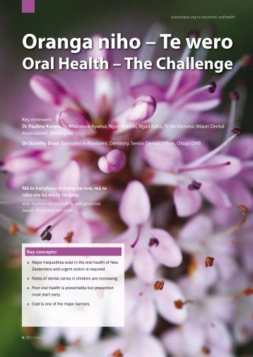 Oranga Niho – Te Wero Oral Health – The Challenge - Bpac.org.nz
