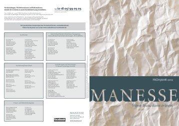 Manesse - Vorschau Frühjahr 2012 - Verlagsgruppe Random ...