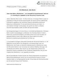 17. Praxistag für Logopädie an der Hochschule Fresenius Idstein