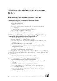 Selbstständiges Arbeiten - Fortbildung PH-Wien