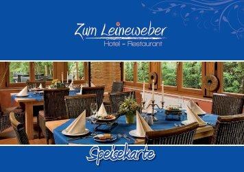 Speisekarte - Hotel und Restaurant zum Leineweber in Burg ...