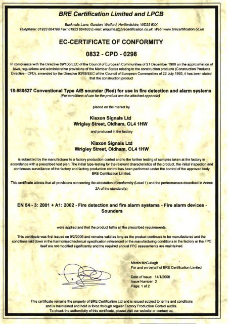 ec-certificate of conformity 0832 - cpo - 0298 - Schneider
