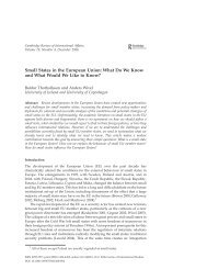 Small States in the European Union: What Do We Know and What ...