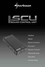 X X-TATIC SOUND CONTROL UNIT 88 - Sharkoon