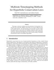 Multirate Timestepping Methods for Hyperbolic Conservation Laws