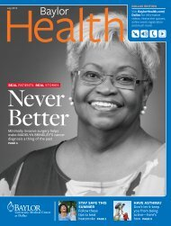 Dallas - Baylor Health Care System Online Newsroom