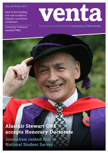 Alastair Stewart OBE accepts Honorary Doctorate - University of ...