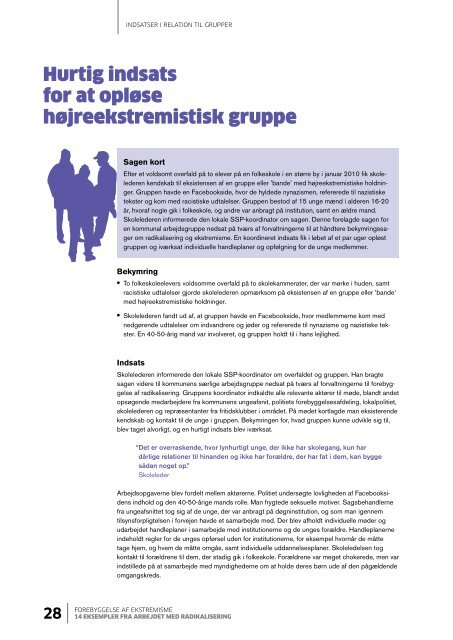 14 eksempler fra arbejdet med radikalisering - Social