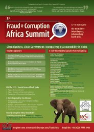 Transparency & Accountability in Africa - MIS Training