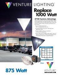875W Uni-Form Pulse Start Metal Halide Lighting ... - Venture Lighting