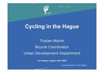 Cycling in the Hague