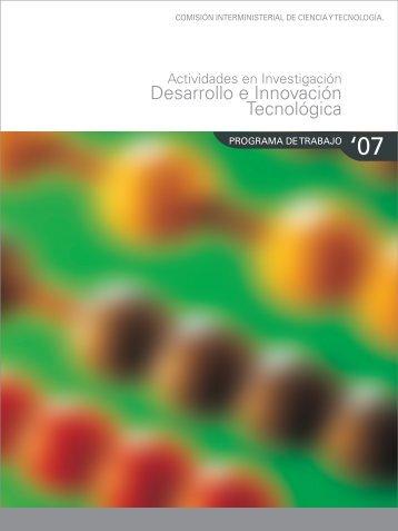 FECYT 2007 PARTE1.indd - Ministerio de Ciencia e Innovación