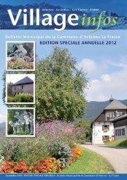 bulletin municipal édition spéciale annuelle 2012 - Commune d ...