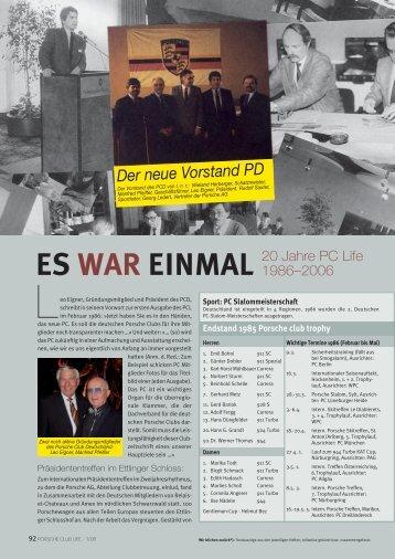 Der neue Vorstand PD - Porsche Club Deutschland