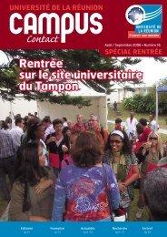 Rentrée sur le site universitaire du Tampon - Université de la Réunion