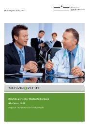 Medizinrecht: Master of Laws (LL.M.) - JurGrad