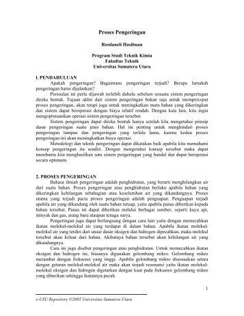 Proses Pengeringan - USU Library - Universitas Sumatera Utara