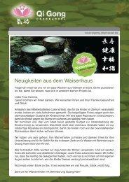 Neuigkeiten aus dem Waisenhaus Waisenhaus - Qi Gong Oberkassel