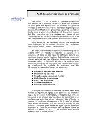 Audit de la cohérence interne de la Formation - Stephanehaefliger ...