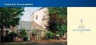 Angebote und Pauschalen 2013 - Hotel am Schlosspark