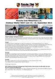 16. September 2012 - Porsche Club Mittelrhein eV