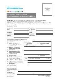 Bewerbungsbogen für Jugendliche - LKJ SH eV