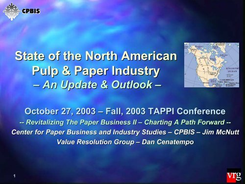McNutt, J , State of the North American Pulp & Paper