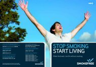 Stop Smoking Start Living booklet