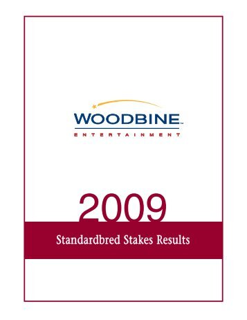 Standardbred Stakes Results - Woodbine Entertainment Group