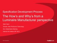 The How's and Why's from a Luminaire Manufacturer perspective