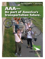 Pennsylvania to Vermont - Rails-to-Trails Conservancy